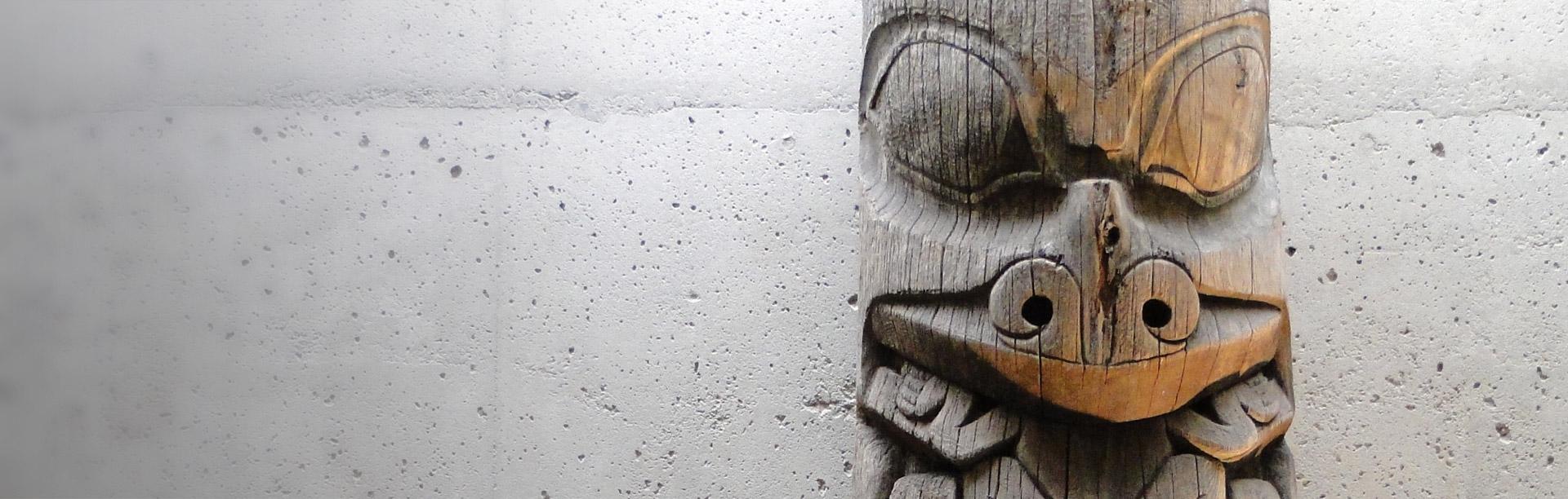 Totem pole in British Columbia
